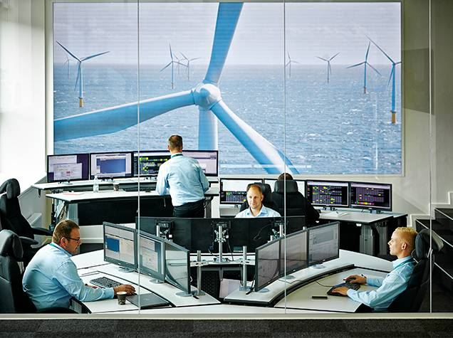 Smart wind power: Remote diagnostic center in Denmark