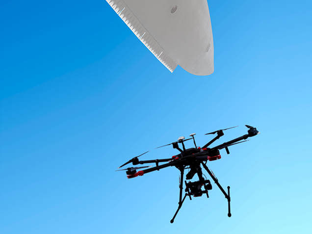 Blade services include technology like drones