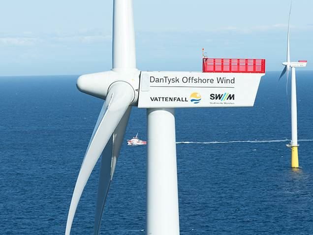 DanTysk 3.6 MW offshore wind turbine