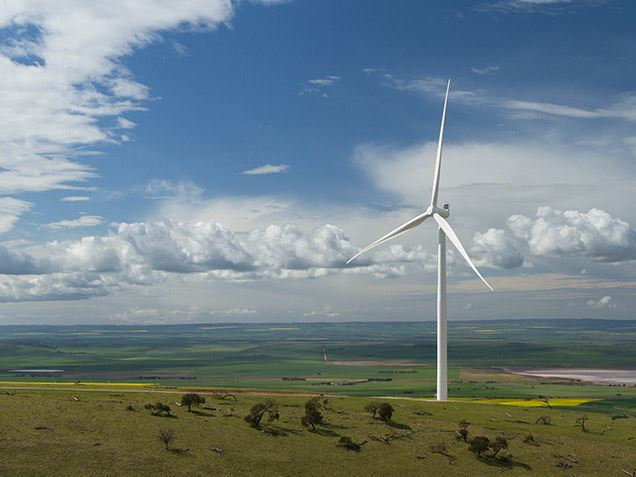 The Snowtown II wind farm produces 270 MW