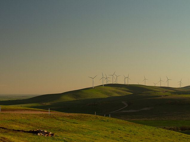 Wind power benefits the local community