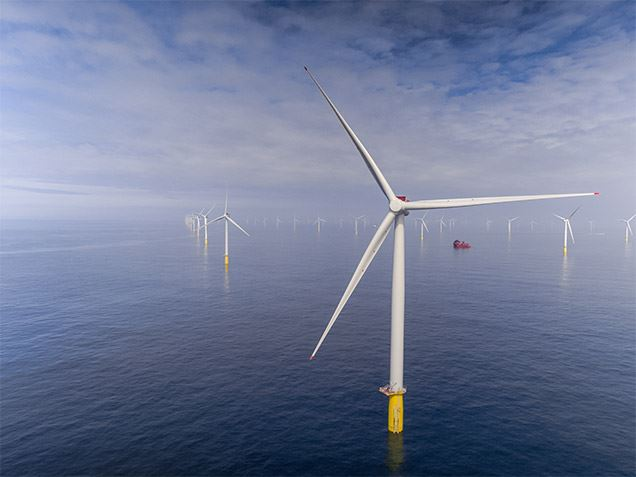 Offshore wind power plant in the North Sea
