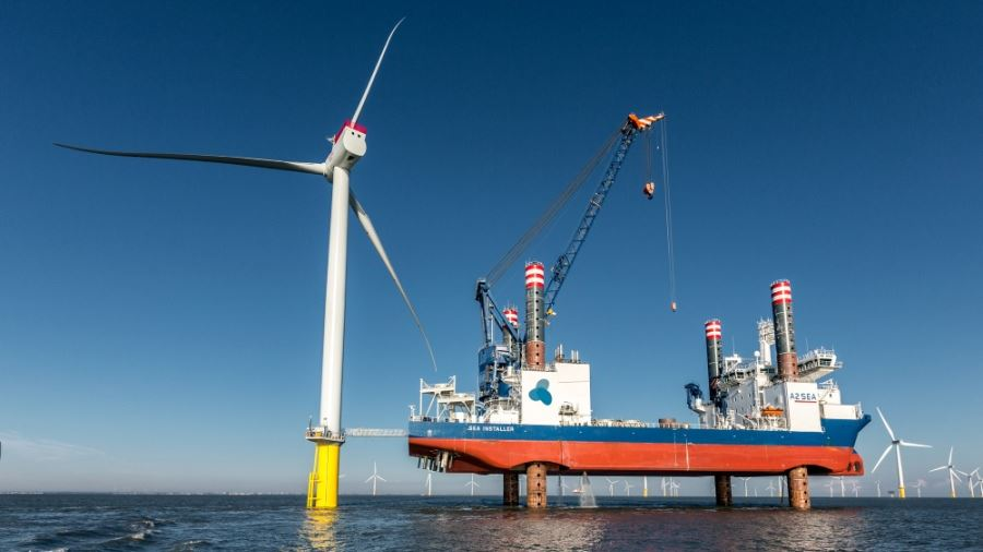 Arkona offshore wind power plant in Germany