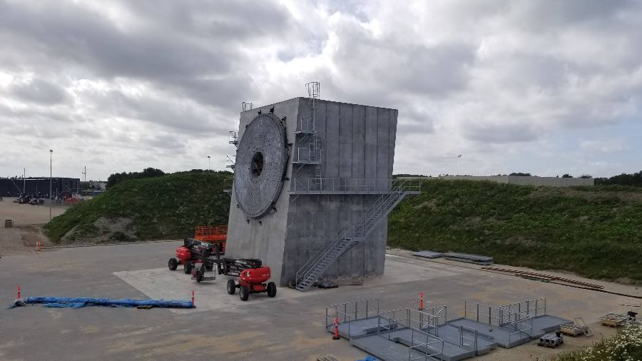 World's largest wind turbine blade test stand built by Siemens Gamesa