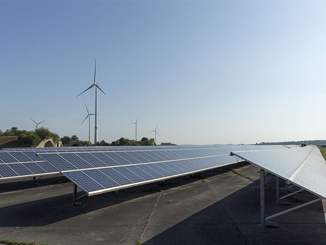 Wind farm with photovoltaic system owned by GETEC Green Energy