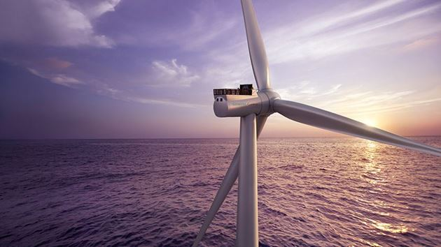 Siemens Games offshore wind turbine SG 8.0-167 DD